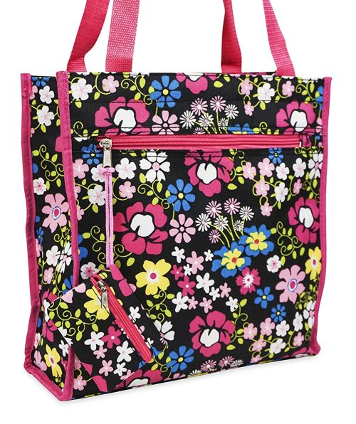 ever-moda-travel-tote-bag-floral-pink