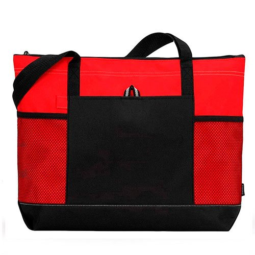 gemline-zippered-travel-tote-bag-red