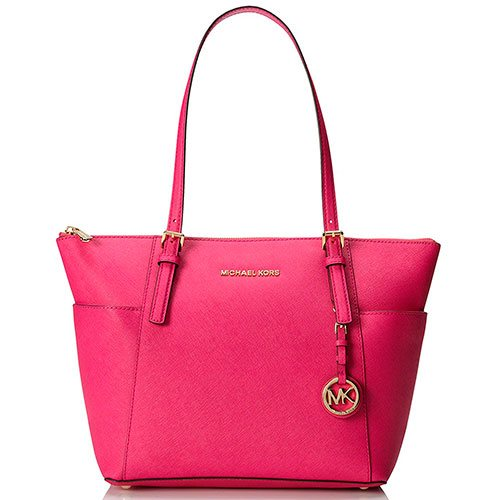 5b5cc9914684 MICHAEL Michael Kors Jet Set Top-Zip Tote – Most Styled Leather Tote