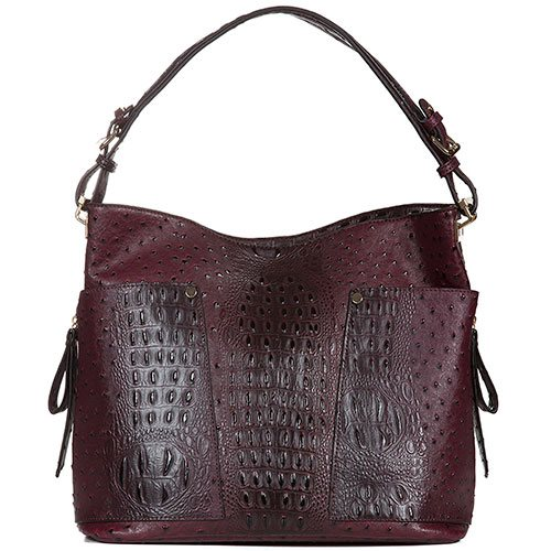 Handbag-Republic-Vegan-Leather-Fashion-Bag-Dark-Red-Largest-Top-Handle-Shoulder-Bag