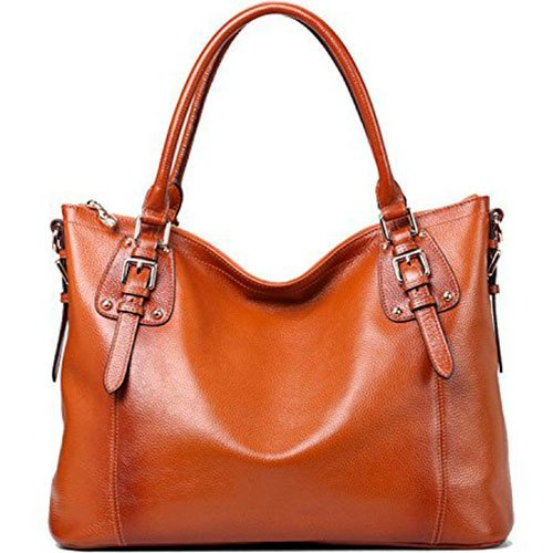 Kattee-Womens-Vintage-Genuine-Leather-Bag-Brown-Best-Hobo-Top-Handle-Shoulder-Bag