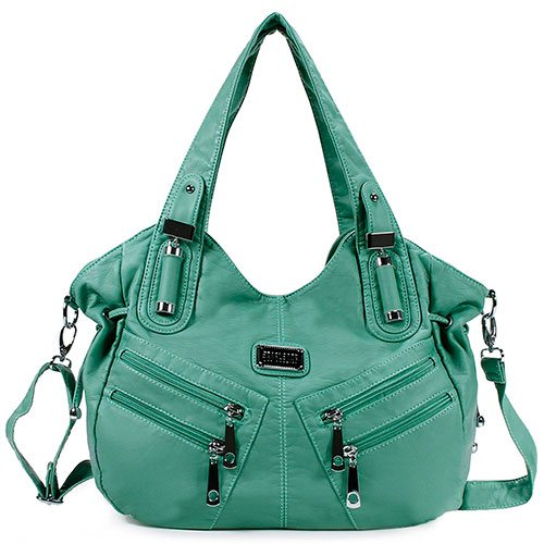 Scarleton-Front-Zippers-Washed-Bag-Green-Best-Budget-Top-Handle-Shoulder-Bag