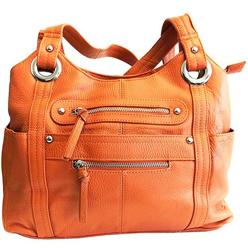 Roma-Leathers-Concealment-Purse-Orange-Best-Concealed-Carry-Top-Handle-Shoulder-Bag